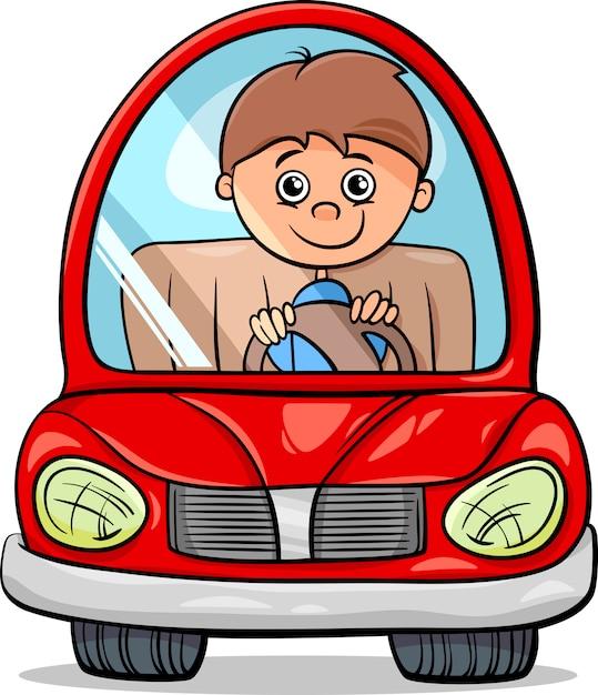 Картинка шофер в машине