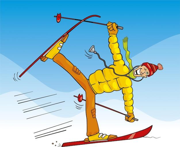 Анимация молодцы, лыжник картинка смешная