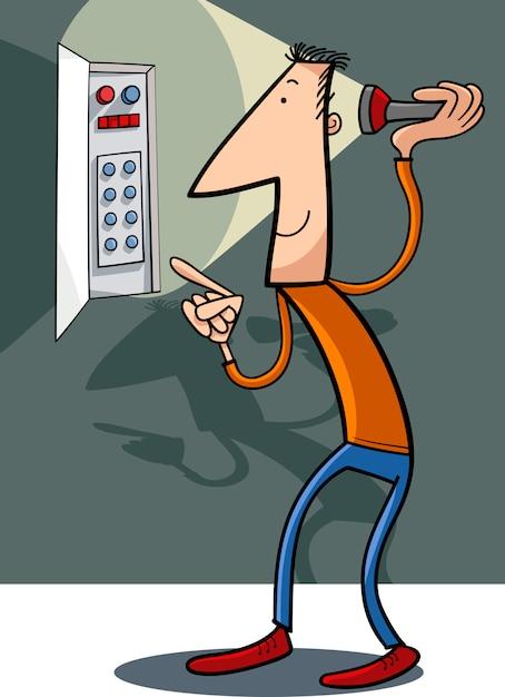 人は電気漫画のイラストを修正 Premiumベクター