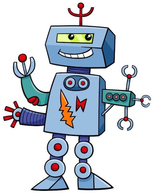 Мультяшный робот фэнтезийный персонаж | Премиум векторы