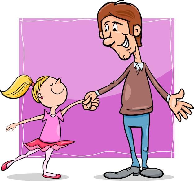 Картинка папа с дочкой нарисованные на торт