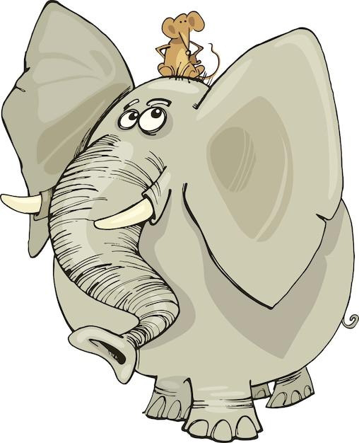 Первым, смешные рисунки про слона