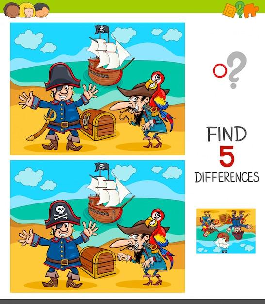 海賊キャラクターとの違いゲーム Premiumベクター