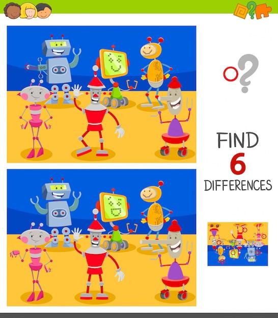 子供のための違い教育ゲームを見つける Premiumベクター