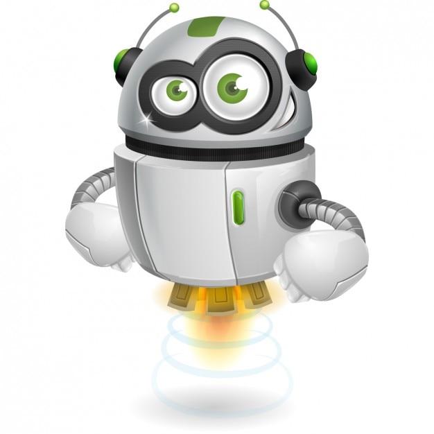 色とりどりのロボットの設計 無料ベクター