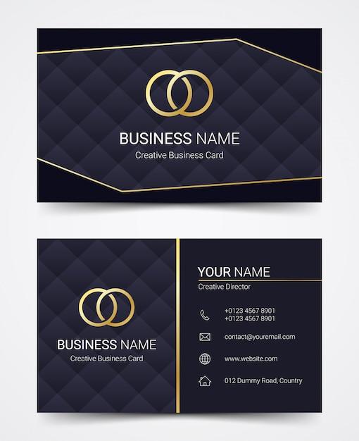 Современный шаблон дизайна визитной карточки, векторная иллюстрация Premium векторы