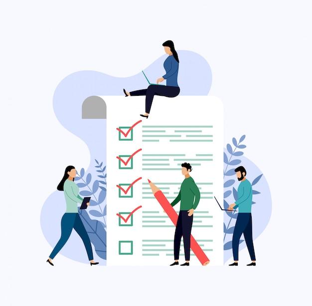 Опросный т, контрольный список, анкета, бизнес Premium векторы