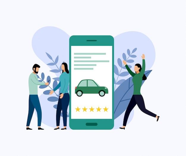 Автосервис, мобильный городской транспорт, бизнес Premium векторы