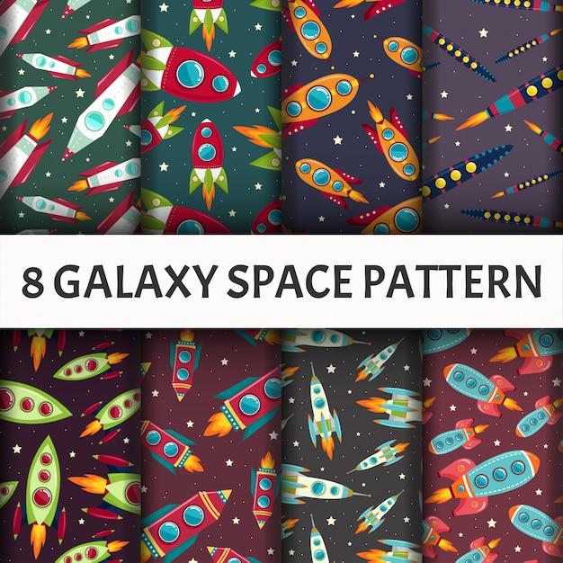Бесшовные модели галактики. Бесплатные векторы