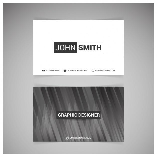 Черно-белый дизайн визитной карточки Бесплатные векторы