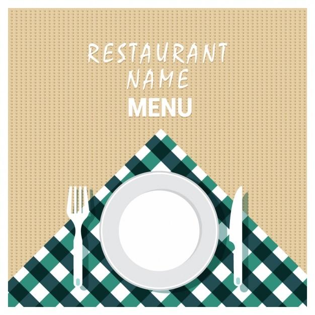 レストランの背景デザイン 無料ベクター