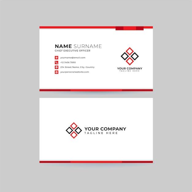 Профессиональный чистый шаблон визитной карточки Premium векторы