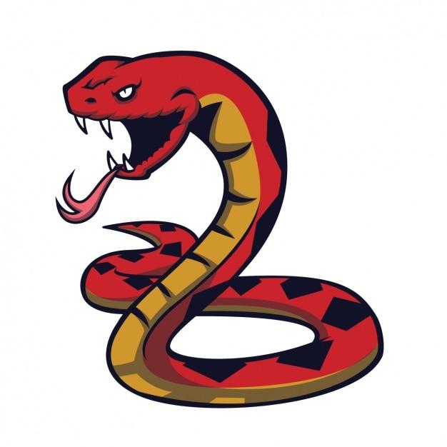 手描きヘビデザイン 無料ベクター