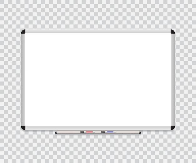 消しゴムホワイトボードとホワイトボードの背景フレーム Premiumベクター