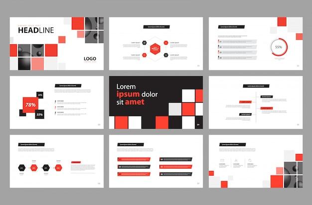 ビジネスプレゼンテーションデザインとパンフレットのレイアウト Premiumベクター