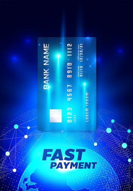 Интернет-банкинг иллюстрация с помощью кредитной карты Premium векторы