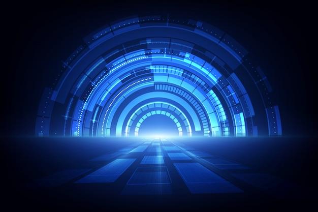 Абстрактная технология скорости. фон Premium векторы