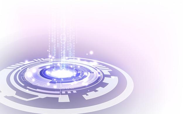 Цифровая футуристическая концепция технологии, абстрактный фон Premium векторы