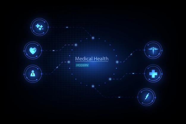 医療ヘルスケア科学革新の背景 Premiumベクター