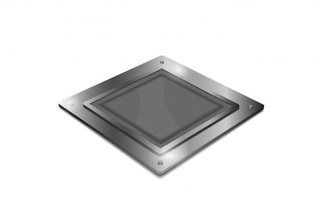 分離されたプロセッサユニットの概念 Premiumベクター