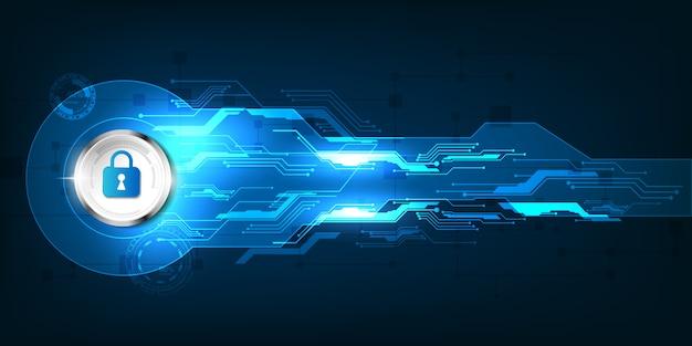Аннотация безопасности цифровых технологий баннер Premium векторы