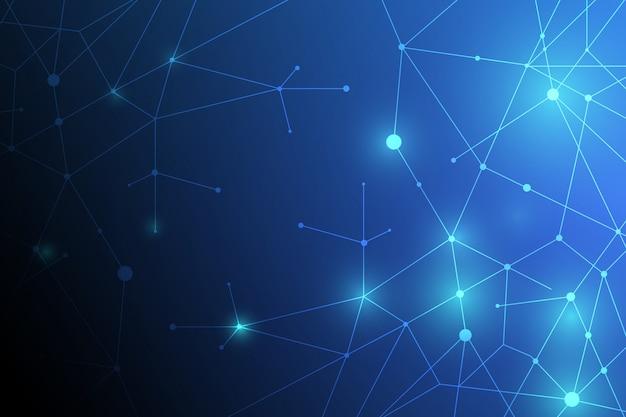 抽象的なネットワーク技術の背景 Premiumベクター