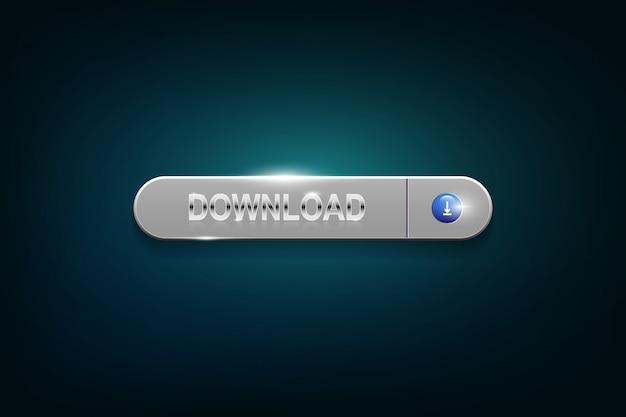 ダウンロードボタン Premiumベクター