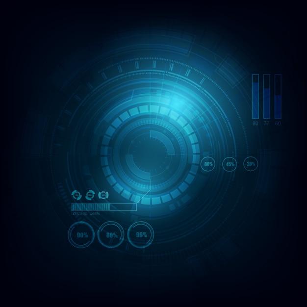 電子サークル通信技術の背景 Premiumベクター