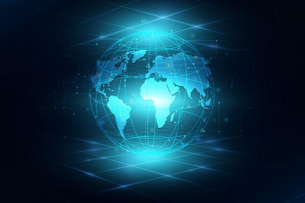 グローバルビジネスの背景の最高のインターネット Premiumベクター