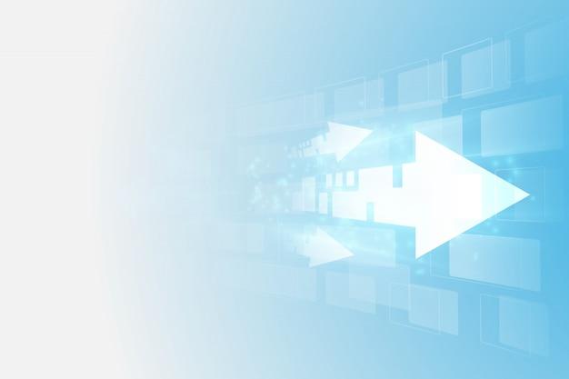 抽象的な未来デジタル速度技術 Premiumベクター