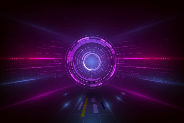 Вектор абстрактный фон визуализации, цифровая футуристическая технология компьютерной графики Premium векторы