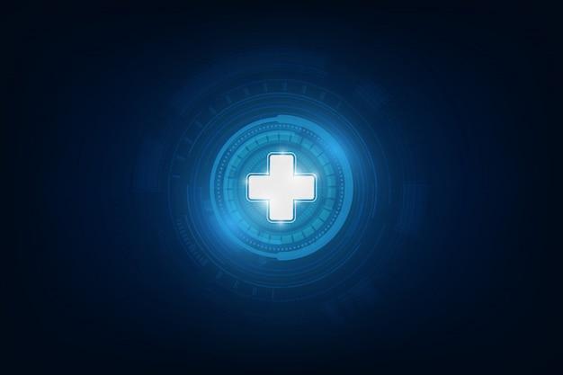 医療アイコンパターン医療革新コンセプトの背景デザイン Premiumベクター