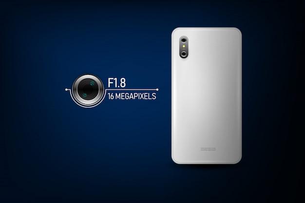 スマートフォンカメラ。ベクトルイラスト Premiumベクター