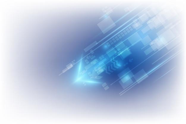 抽象的なスピードテクノロジーのコンセプトです。イラストのベクトルの背景 Premiumベクター