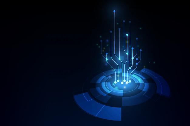 ベクトル抽象的な将来の技術、電気通信の背景 Premiumベクター