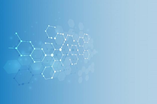 Молекулярная структура медицинское образование Premium векторы