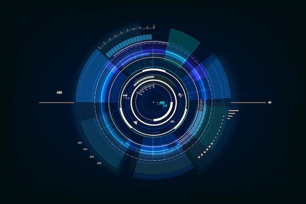 未来的なサイエンスフィクションの技術の背景 Premiumベクター