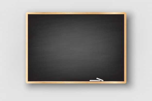 黒板背景と木枠は、汚れた黒板をこすり洗いしました。 Premiumベクター