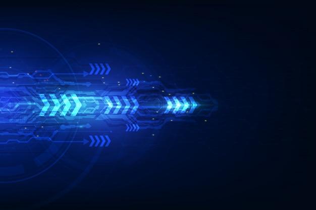 抽象的なスピードテクノロジーのコンセプトです。 Premiumベクター