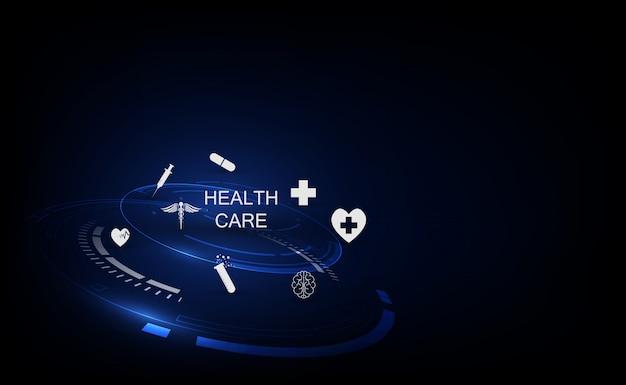 医療技術革新コンセプトの背景 Premiumベクター
