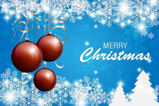 Рождественская открытка с снежинкой Premium векторы