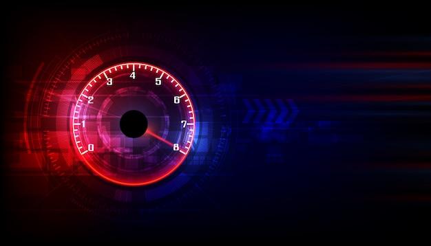 Скорость движения фона со спидометром Premium векторы