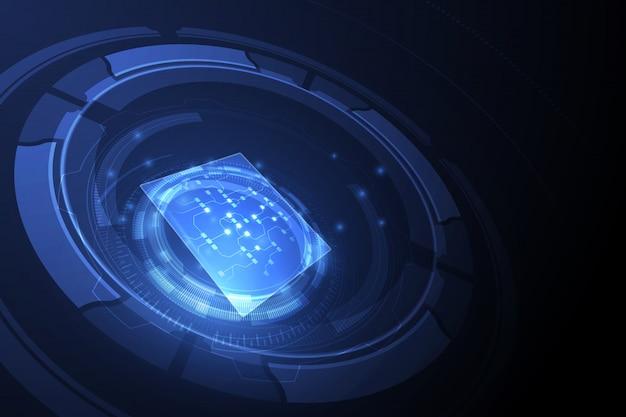 Абстрактный технологический фон Premium векторы