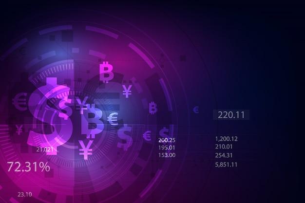 Глобальная валюта фон Premium векторы