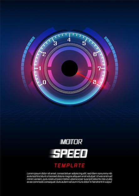 Баннер скорость движения фон с быстрой спидометр автомобиля. Premium векторы