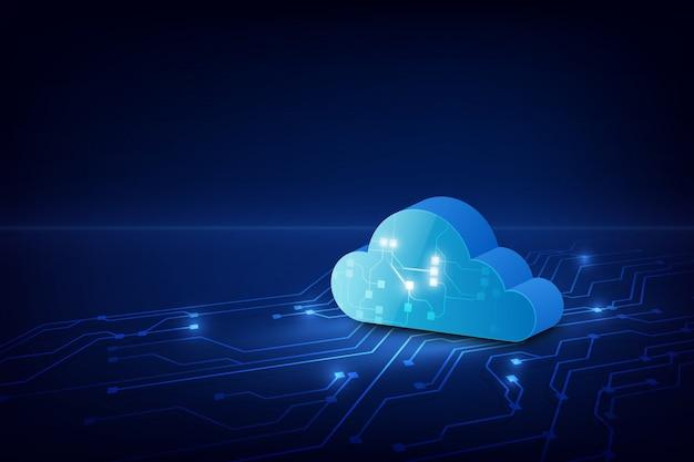 Абстрактная облачная технология системы научно-фантастического фона Premium векторы