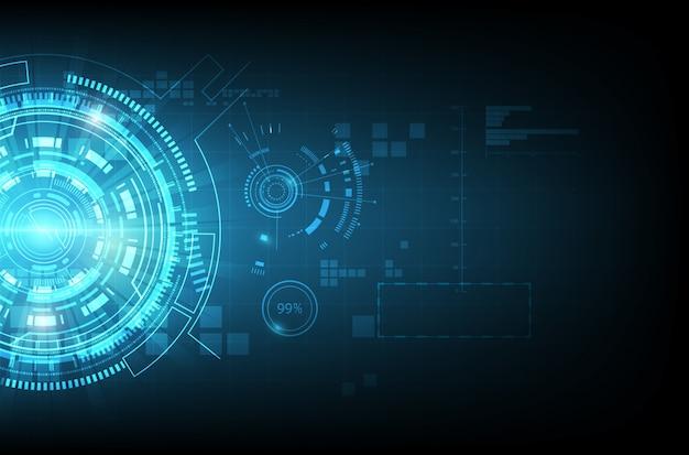 Абстрактный фон технологии связи Premium векторы