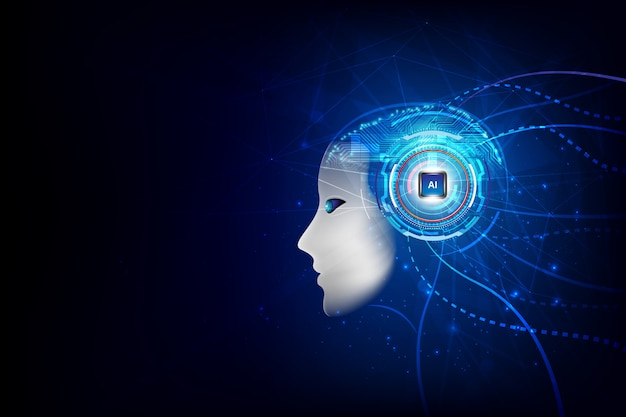 テクノロジー人工知能脳 Premiumベクター