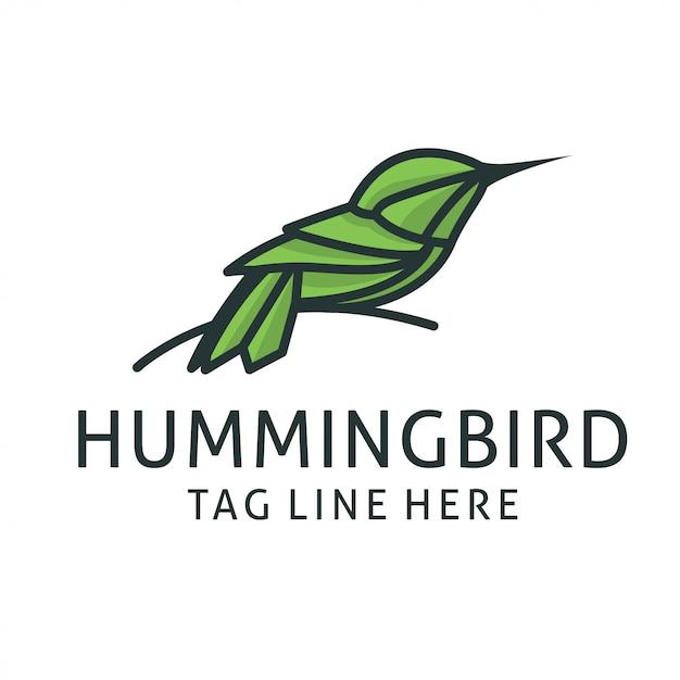 ハチドリのロゴデザインベクトルテンプレート Premiumベクター