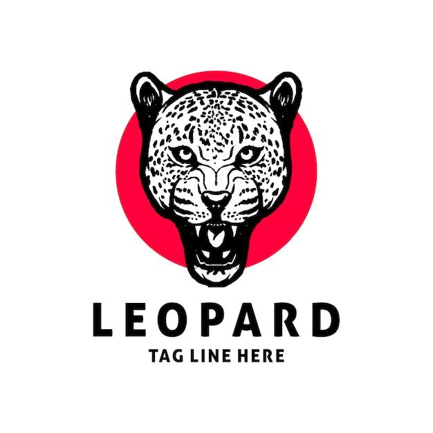 Леопард логотип дизайн вектор шаблон Premium векторы